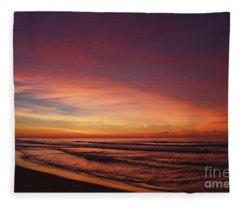 Jersey Shore Sunrise Fleece Blanket