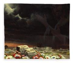 Jesus And His Jewels Fleece Blanket