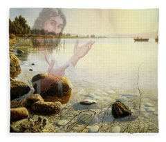 Jesus, Come Follow Me Fleece Blanket