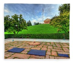 Jfk Grave And Arlington House Fleece Blanket