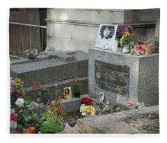 Jim Morrison's Grave Fleece Blanket