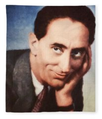 Jindrich Plachta, Portrait Of Czechoslovak Actor Fleece Blanket