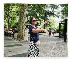 Jing An Park Fleece Blanket