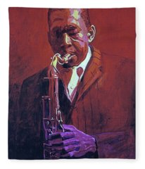 John Coltrane Fleece Blanket