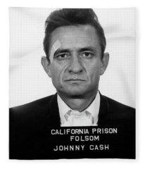 Johnny Cash Mugshot Fleece Blanket