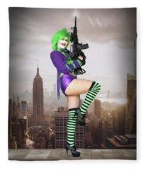 Joker Is Wild Fleece Blanket