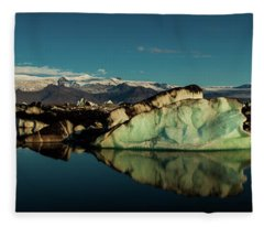 Jokulsarlon Lagoon, Iceland Fleece Blanket