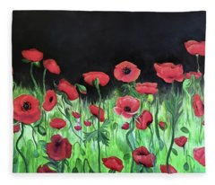 Jon's Poppies Fleece Blanket