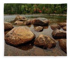 Jordon Pond Boulders Fleece Blanket