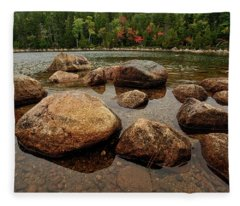 Jordon Pond Boulders Fleece Blanket