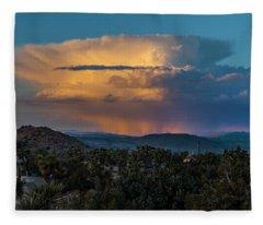 Joshua Tree Thunderhead Fleece Blanket