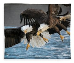 Jousting Eagles Fleece Blanket