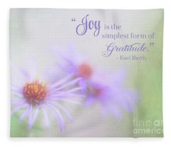 Joy And Gratitude For All Seasons Fleece Blanket