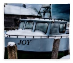 Joy At Fishtown Michigan Fleece Blanket