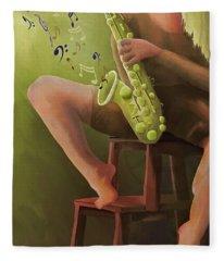 Joys Of The Saxophone Fleece Blanket