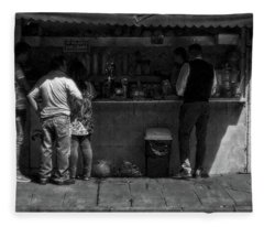 Juice Stand In Old Mexico Fleece Blanket