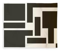 Julije Knifer Tribute Fleece Blanket
