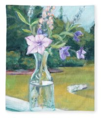 July Flowers Fleece Blanket