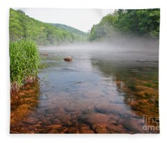 June Morning Mist Fleece Blanket