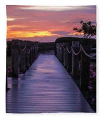 Just Another Day In Paradise Fleece Blanket