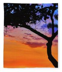 Just Another Kona Sunset Fleece Blanket