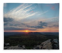 Just Before Sundown Fleece Blanket