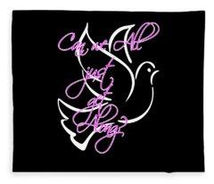 Just Get Along Fleece Blanket