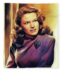 K. T. Stevens, Vintage Actress Fleece Blanket