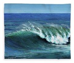 Ka Aniana Nalu Fleece Blanket