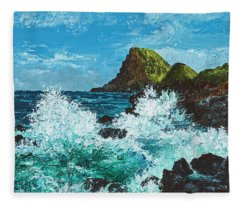 Kahekili Leap Fleece Blanket