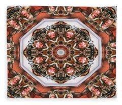 Kaleidoscope Of Apple Still Life Fleece Blanket