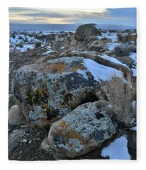 Kaleidoscope Of Color In Book Cliffs Boulders Fleece Blanket