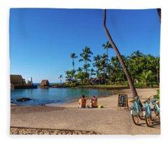 Kamakahonu Beach Fleece Blanket