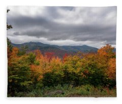 Kancamagus Highway Scene Fleece Blanket