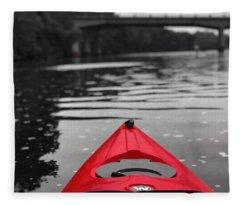 Kayaking The Occoquan Fleece Blanket