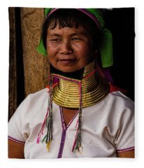 Kayan Woman Fleece Blanket