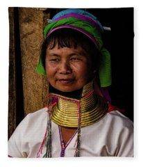 Kayan Woman Fleece Blanket