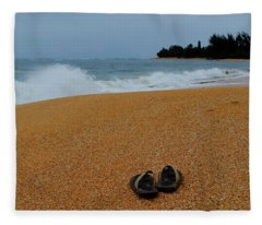 Ke'e Beach Fleece Blanket