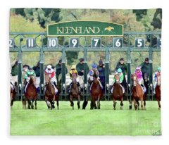 Keeneland Starting Gate Fleece Blanket