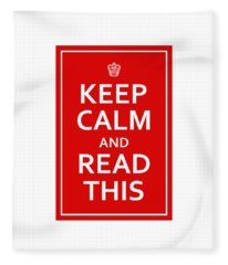 Keep Calm - Read This Fleece Blanket