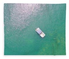 Keuka Lake Boating Fleece Blanket