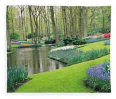 Keukenhof Gardens Fleece Blanket