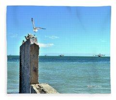 Key West Blues Fleece Blanket