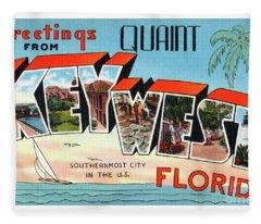 Key West Greetings Fleece Blanket