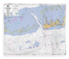 Key West Harbor And Approaches, Noaa Chart 11441 Fleece Blanket