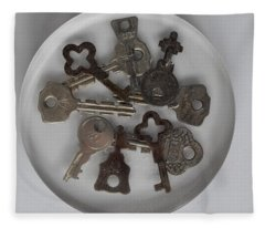 Keys In Resin Fleece Blanket
