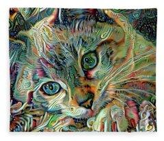 Kiki The Siamese Kitten Fleece Blanket