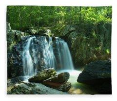 Kilgore Falls In Summer Fleece Blanket