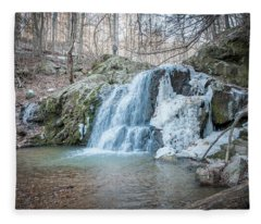 Kilgore Falls In Winter Fleece Blanket