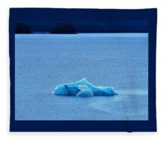 Killer Whale Ice Sculpture Fleece Blanket